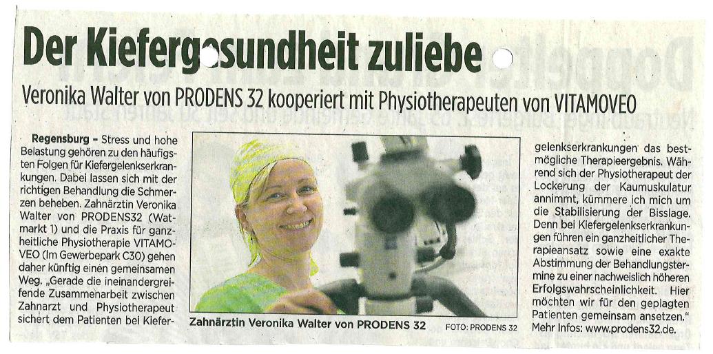 Veronika Walter von PRODENS32, Kooperationspartner von Vitamoveo, Praxis für Cranio Sacral Therapie, Osteopathie Baby, Physiotherapie, unerfüllter Kinderwunsch.